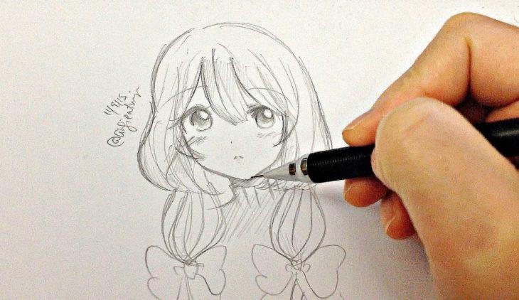 draw anime girl